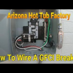 How to wire a 50 Amp GFCI Breaker in a Sub Panel...(Part 2 of 4) DIY Spa Wiring made Easy.