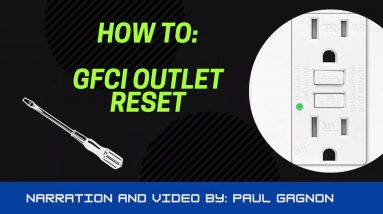 GFCI Outlet Reset - Quick Tip!